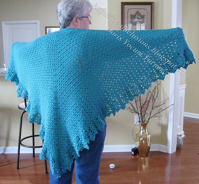 Ravelry So Simple Box Stitch Shawl Pattern By Doris Yocum Turner