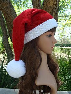 d7e686e5dcd Ravelry  Ho Ho Ho Santa Knit Hat with fold up brim pattern by Mary ...