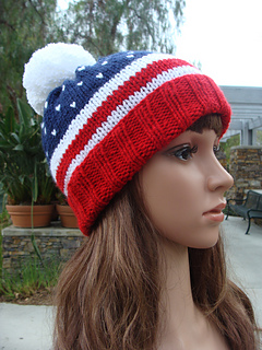 20567c6c23e Ravelry  4TH Of July Patriotic Knit Beanie pattern by Mary Legere