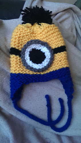 Ravelry: Loom Knit Minion Hat pattern by Julie Harvell