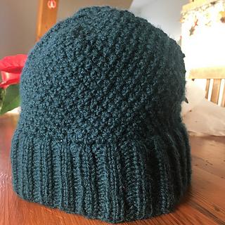 Ravelry  Moss stitch hat with double brim pattern by Inij We 4b0c5fea118