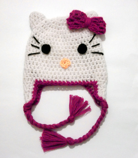Ravelry Hello Kitty Hat Pattern By Evy Tsiola