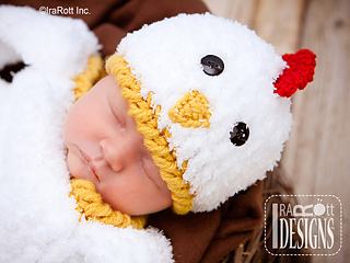 e62a7d0f5 Bok Bok Easter Chicken Baby Hat and Cocoon Set pattern by Ira Rott