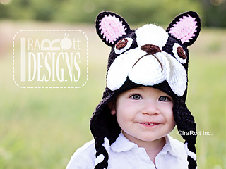 c3e0478c339 Ravelry  Oscar The French Bulldog or Boston Terrier Hat pattern by ...
