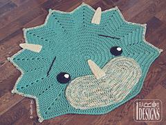 Cera_dinosaur_triceratops_dino_rug_pattern_by_ira_rott__2__small