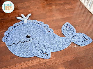 Ravelry Joyce And Justin Whale Rug Pattern By Ira Rott