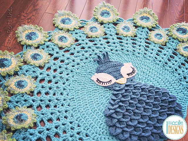 Ravelry Pavo The Peacock Rug Pattern By Ira Rott