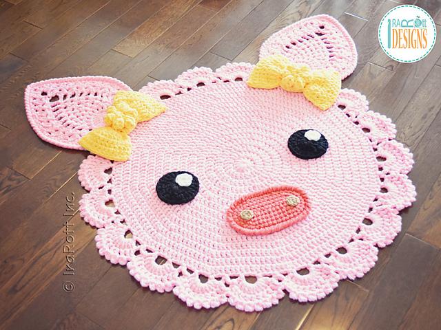 Ravelry Pinky The Piggy Rug Pattern By Ira Rott