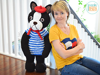 eef72846884 Ravelry  Oscar The French Bulldog pattern by Ira Rott