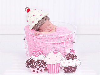 d05cc2f5e6b Ravelry  Cupcake Beanie With Cherry on Top pattern by Ira Rott