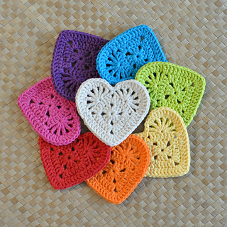 Ravelry Granny Heart Coaster Motif Pattern By Divina Rocco