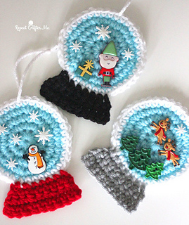 4f96a68b4 Ravelry  Snow Globe Ornaments pattern by Sarah Zimmerman