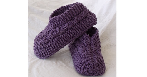 Ravelry Easy To Knit Bow Slippers Pattern By Janis Frank