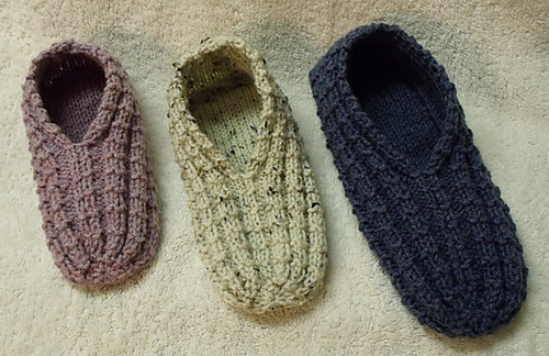 Ravelry: Easy to Knit Slippers pattern by Janis Frank