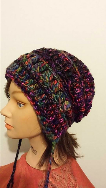 Ravelry In Stitches 2 Earflap Slouchy Beanie Pattern By Healing Yarns