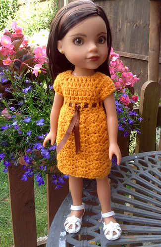 Ravelry Shell Stitch Crocheted Dress To Fit 14 Inch Dolls