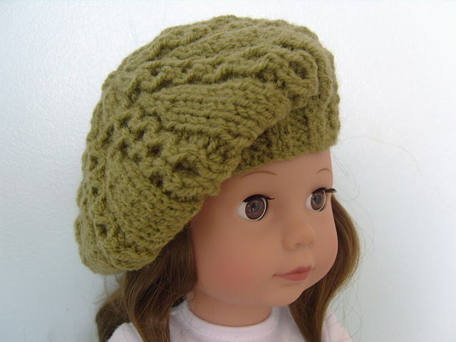 Ravelry: American Girl Doll Beret pattern by Jacqueline Gibb