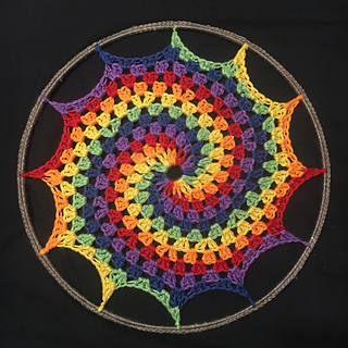 Ravelry Rainbow Granny Spiral Sun Catcher Pattern By