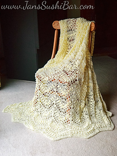 Ravelry: Popcorn Ripple Afghan pattern by Mary Maxim