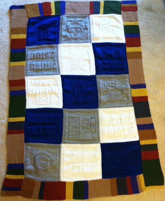 Ravelry Javapurls Doctor Who Baby Blanket