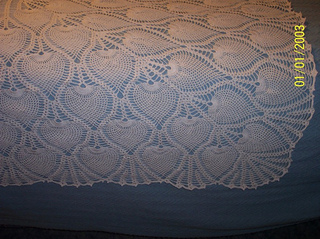 Ravelry: Pineapple Bedspread or Tablecloth #7650-A pattern ...