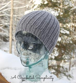 Men s Reversible Knit Look Beanie pattern by Jennifer Pionk 03ddddf7412