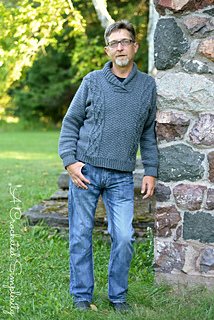 93757eb86 Ravelry  Midwestern Warmth Men s Cabled Sweater pattern by Jennifer Pionk