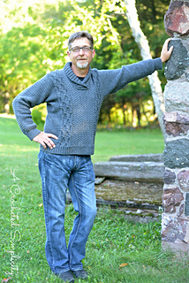2936eba53 Ravelry  Midwestern Warmth Men s Cabled Sweater pattern by ...