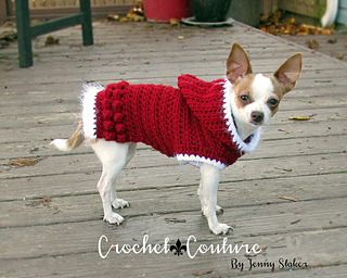 Ravelry Holiday Hoodie Dog Sweater Pattern By Jenny Staker