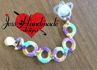 Ravelry Crochet Pacifier Clip Pattern By Jessica King Cason
