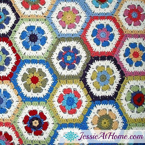 Ravelry Flower To Hexagon Blanket Pattern By Jessie Rayot