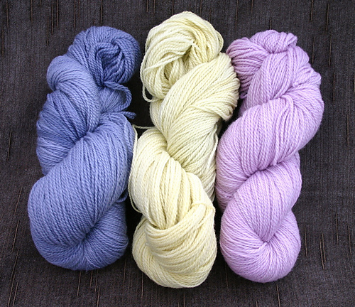 My hand dyed yarns x 3