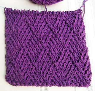 Ravelry Dishcloth Twist Stitch Diamonds Pattern By Joan