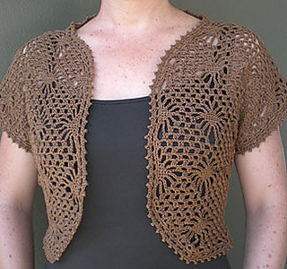 Ravelry Crochet Bolero Pattern By Panda Yarns