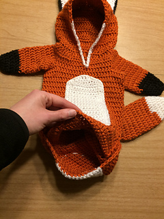 Fox Baby Bunting Pattern By Mostly Harmless Hookn Ravelry