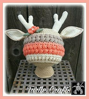 Ravelry  Textured Vintage Deer Hat pattern by Turtle Crafts 5ca84ccec6f