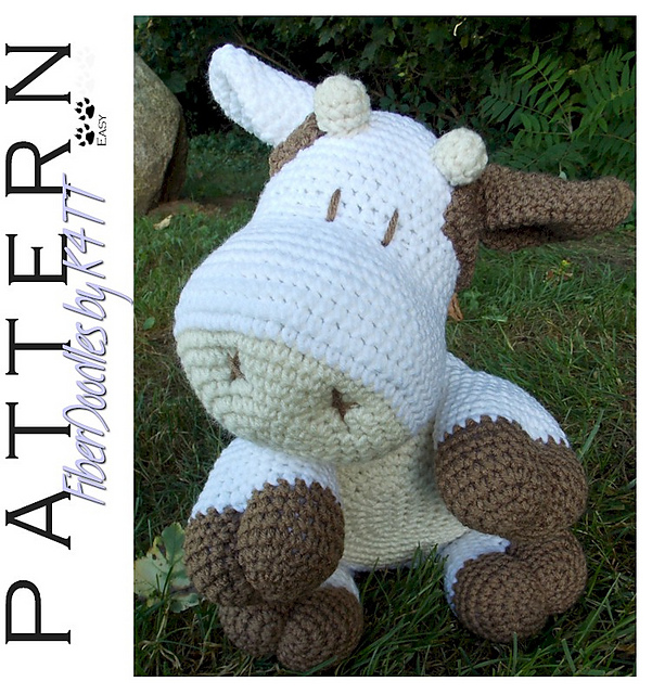 Ravelry Pp008 Pillow Pal Cow Pattern By K4tt