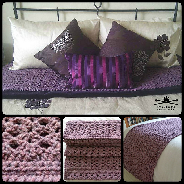 Ravelry Chunky Cosy Bed Runner Pattern By Heather C Gibbs