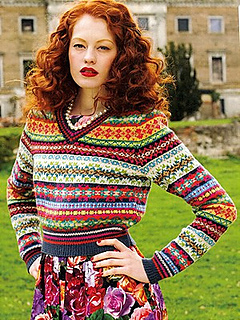 Ravelry: V neck Fair Isle Sweater pattern by Debbie Bliss