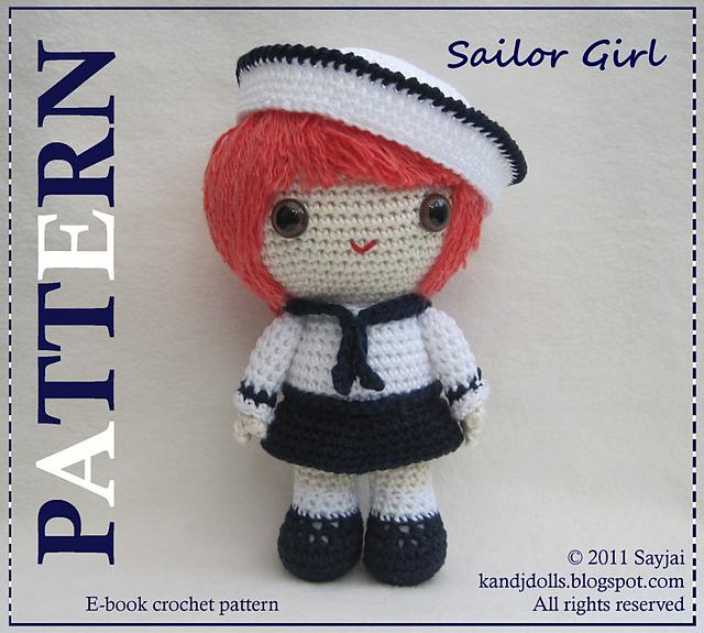 Ravelry: Sailor Girl Amigurumi pattern by Sayjai Thawornsupacharoen