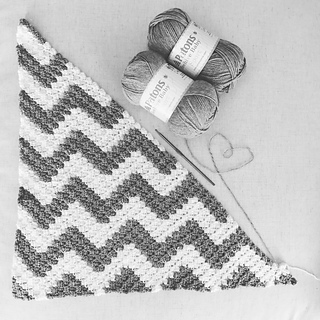 Ravelry Chevron Crochet C2c Blanket With Graph Pattern By Karla Wren