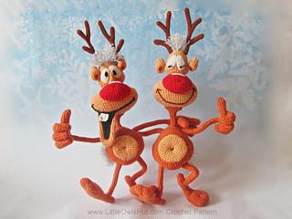 Amigurumi Reindeer Free Pattern : Ravelry reindeer rudolf toy ravelry pattern by littleowlshut