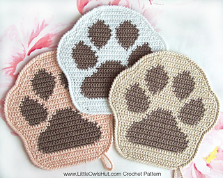 Free Crochet Cat Paw Print Pattern