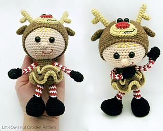 Amigurumi Reindeer Free Pattern : Reindeer sleigh rudolph amigurumi crochet pattern us tetszik