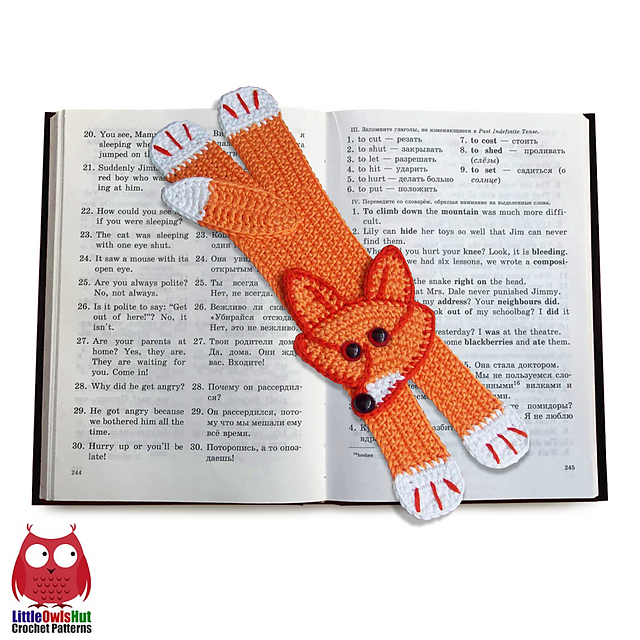 011 Fox Bookmark pattern by LittleOwlsHut
