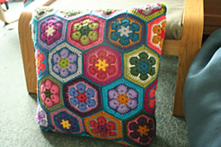 Ravelry African Flower Hexagon Pattern By Lounette Fourie Anita