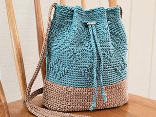 Ravelry Diamond Drawstring Bag Pattern By Kathy Olivarez
