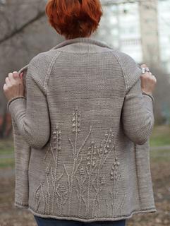 Winter Weeds cardigan pattern by Katya Gorbacheva