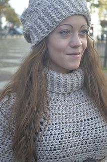 a333f0b553b Ravelry  Basketweave Pullover with Slouchy Beanie Hat pattern by By ...