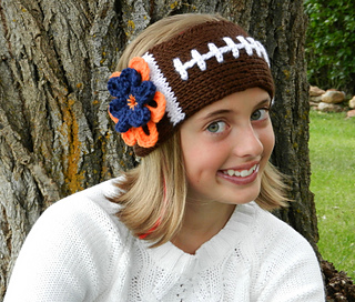 Ravelry  Football Headband Earwarmer pattern by Kismet Crochet 13b3320c915
